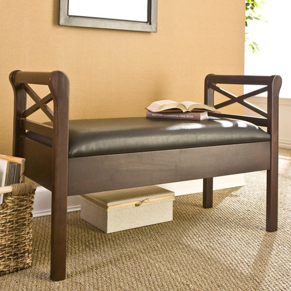 Harper Blvd Sussex Faux Leather Storage Bench