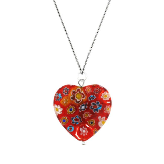 Glitzy rocks silver red venetian glass heart necklace free glitzy rocks silver red venetian glass heart necklace mozeypictures Choice Image