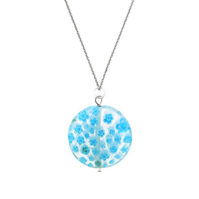 search blue pendant necklace glass images drop