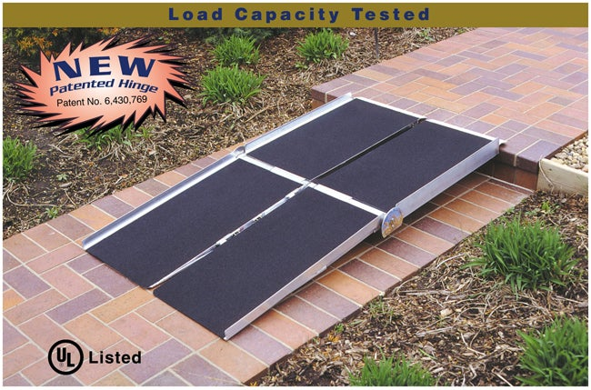Portable 6-foot Multifold Ramp