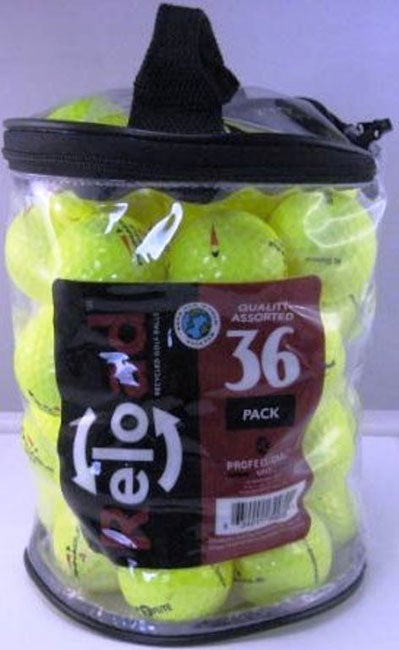 Pack of 72 Optic Yellow Golf Balls (Recycled)