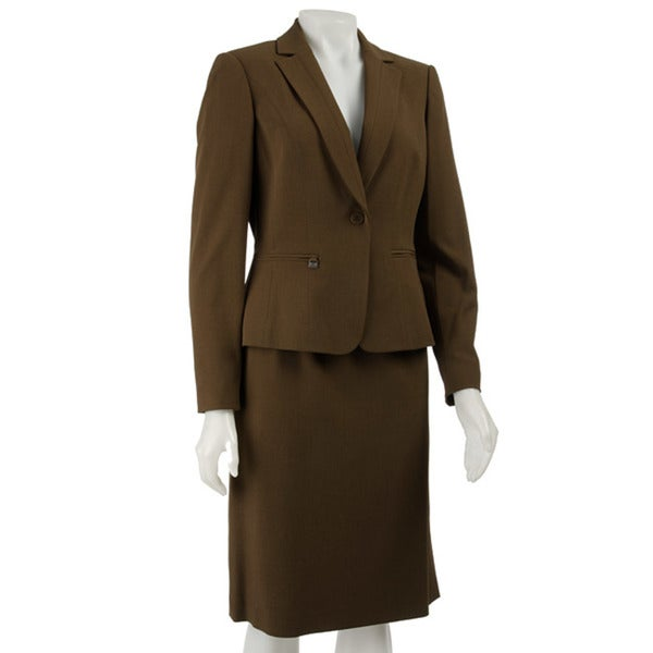 Shop John Meyer Women S Brown Skirt Suit Free Shipping Today