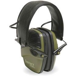 Howard Leight Impact Sport OD Green Electric Earmuff
