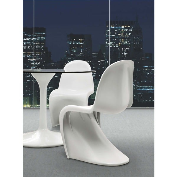 17.5-inch High Zuo ABS White 'S' Chair (Set of 2)