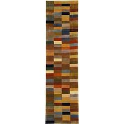 Safavieh Handmade Rodeo Drive Modern Abstract Multicolored Runner (2'6 x 9')