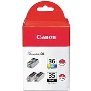 Canon CLI-36/PGi-35 Ink Cartridge - Black, Color