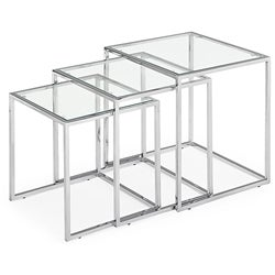 Fargo Glass Nesting Tables (Set of 3) - Thumbnail 0