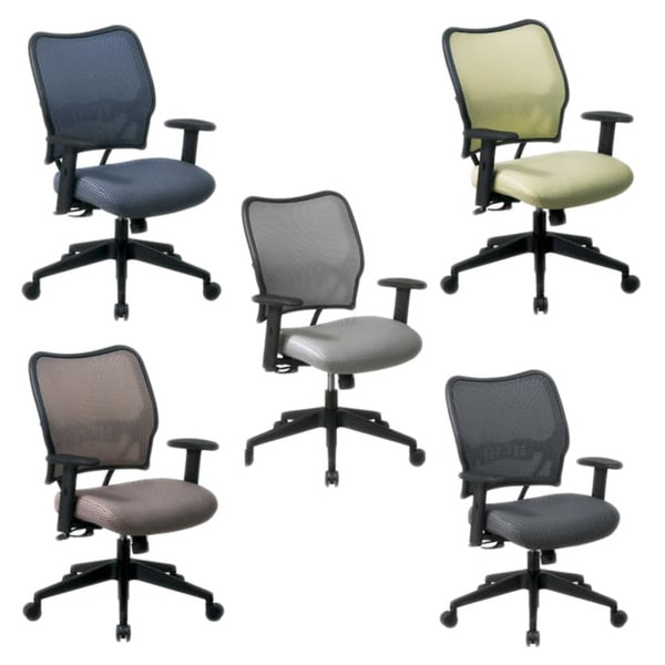 Office Star Professional Air Grid Deluxe Task Chair office star veraflex nylon deluxe chair with adjustable arms