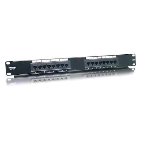 TRENDnet TC-P16C6 16-port Cat.6 RJ-45 UTP 19-inch Rack Mount Network Patch Panel