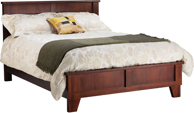 rustic queen size panel bed