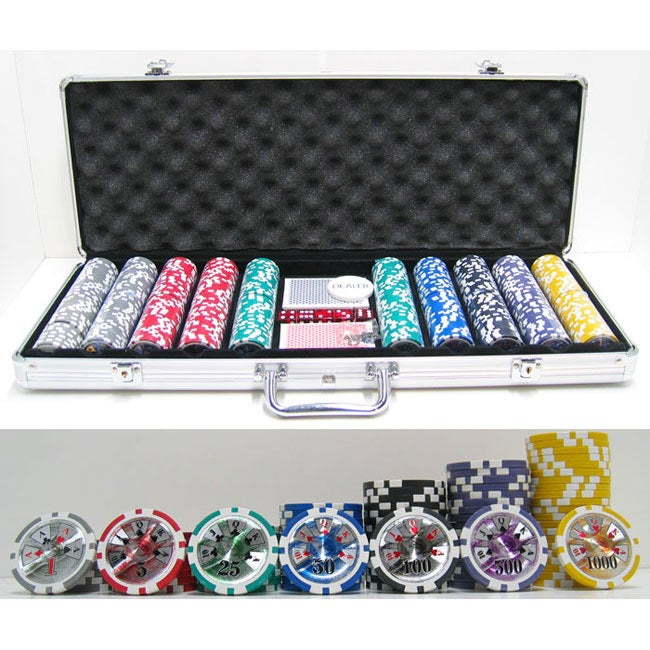 High Roller 500-piece Poker Chip Set