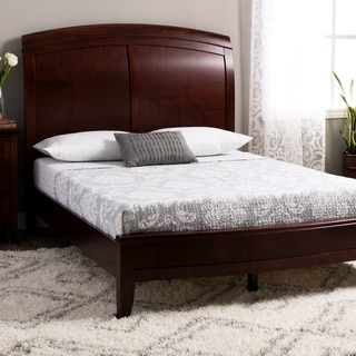 Split Panel Queen-size Wooden Sleigh Bed