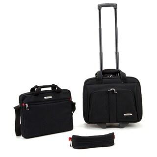 Rockland Black 3-piece Rolling Laptop Case