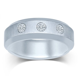 Unending Love Stainless Steel Men's Diamond Band