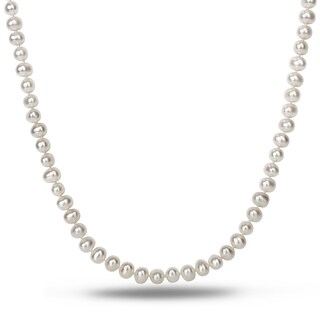 Miadora White 6-7mm Cultured Freshwater Pearl Necklace (18-24 inch)