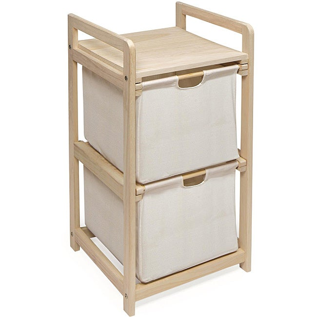 Two Drawer H&er and Storage Unit  sc 1 st  Overstock.com & Shop Two Drawer Hamper and Storage Unit - Free Shipping On Orders ...