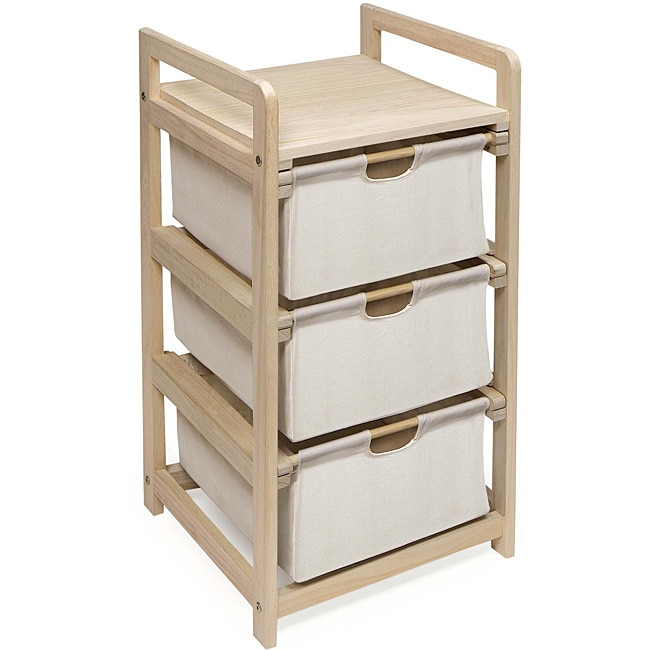 Three Drawer Hamper and Storage Unit - Thumbnail 0