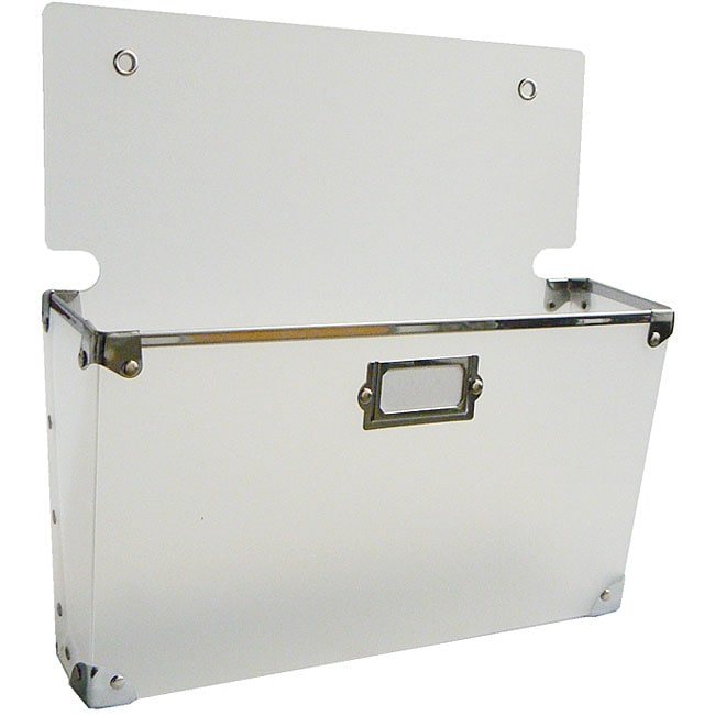 White Polypro Large Wall Pocket (Set of 3)