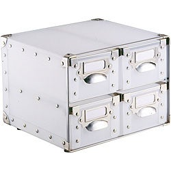 White Polypro 4-Drawer Storage Bin