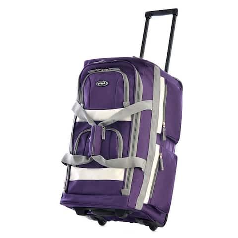 Olympia SRD 22-inch 8-pocket Carry On Rolling Upright Duffel Bag