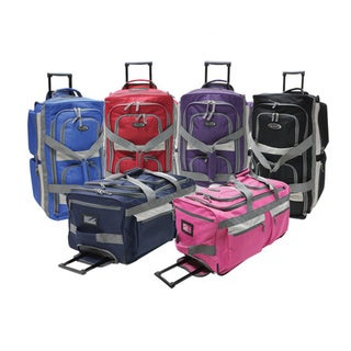Link to Olympia 29-inch 8-pocket Rolling Upright Duffel Bag Similar Items in Luggage Sets