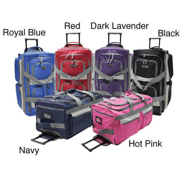 8f9a7bdf2bd5 Shop Olympia 26-inch 8-pocket Rolling Upright Duffel Bag - Free ...