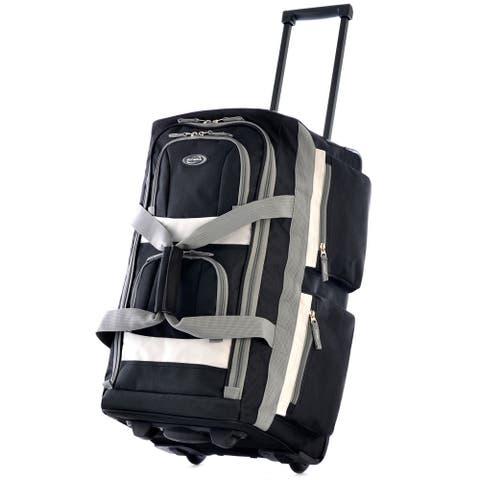 Olympia 26-inch 8-pocket Rolling Upright Duffel Bag