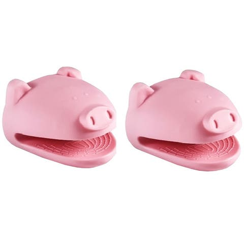 Kitchen Kritters Silicone Pig Pot Holder (Set of 2)