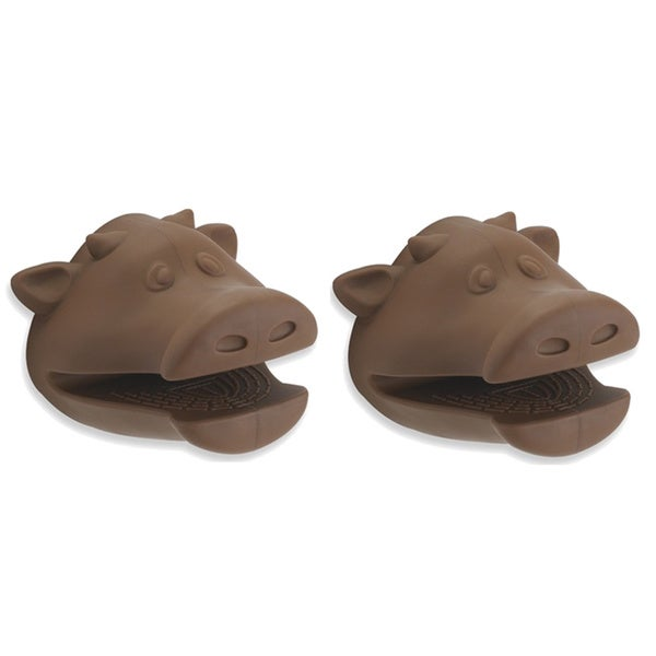 Kitchen Kritters Silicone Cow Pot Holder (Set of 2). Opens flyout.