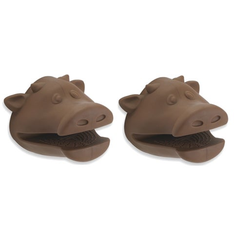 Kitchen Kritters Silicone Cow Pot Holder (Set of 2)