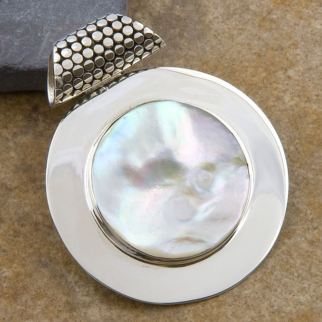 Mabe Pearl Sterling Silver Pendant (Indonesia)