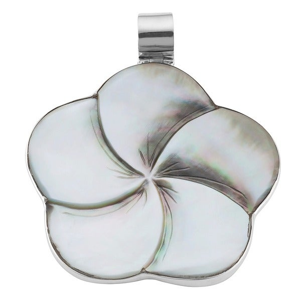 Mother of Pearl Flower Silver Pendant (Indonesia)
