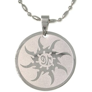 Stainless Steel Tribal Sun Necklace
