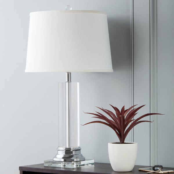 Ordinaire Clay Alder Home Crystal Column Chrome Finish Table Lamp