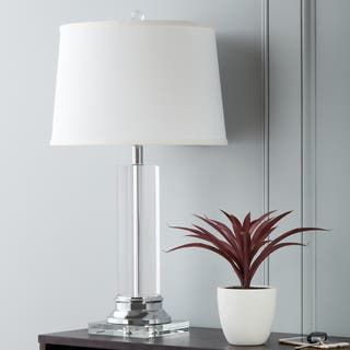 Crystal Column Chrome Finish Table Lamp|https://ak1.ostkcdn.com/images/products/3153010/P11276430.jpg?impolicy=medium