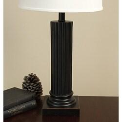 Bronze Column Table Lamp