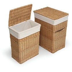 natural hamper with liners set of 2