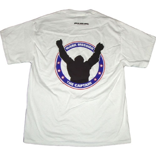 Mark Messier Men's White Short-sleeve T-shirt