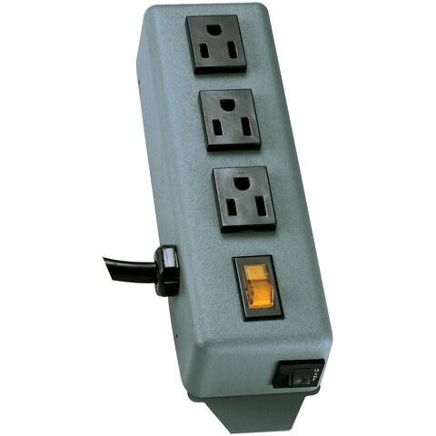 Tripp Lite Waber Power Strip Metal 5-15R 3 Outlet 5-15P 6' Cord