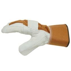 Adi Designs Deerskin Premium Leather Work Gloves with Elastic Back