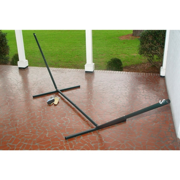 Green Steel Hammock Stand