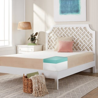 Comfort Dreams Select-A-Firmness 11-inch Queen-size Memory Foam Mattress - Beige/White