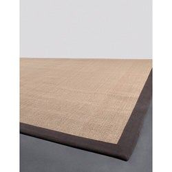 Artist's Loom Hand-woven Contemporary Border Natural Eco-friendly Sisal Rug (5'x8')
