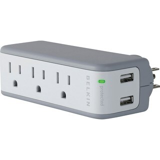 Belkin Mini Surge Protector w/ USB Charger