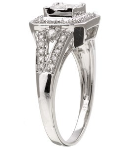 Eloquence 14k Gold 1/2ct TDW Princess Cut Diamond Ring