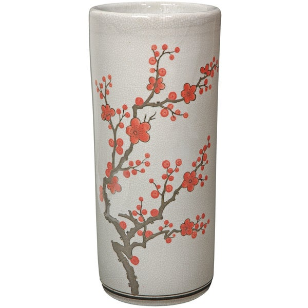Handmade 17.5-inch Blossom Umbrella Stand (China)