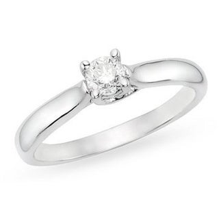 Miadora 14k Gold 1/2ct TDW Diamond Solitaire Engagement Ring (H-I, I1-I2)