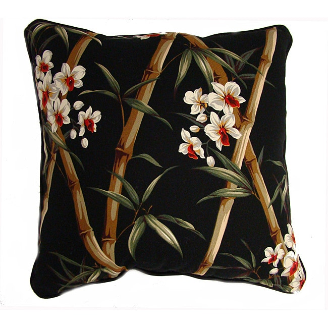 Bamboo Print 20-inch Pillows (Set of 2)