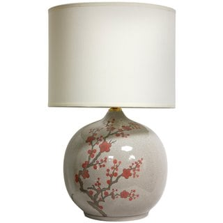 20-inch Cherry Blossom Vase Lamp (China)