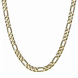 Simon Frank 14k Yellow Gold Overlay 8mm Figaro Chain (20-inch)